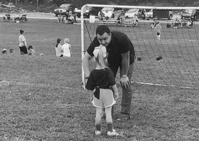 Rocky Hollow Soccer League, Alan coaching his daughter